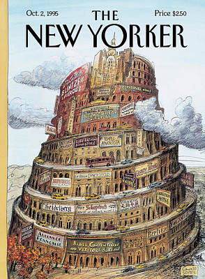 History Painting - New Yorker October 2nd, 1995 by Edward Sorel