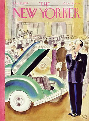 Boredom Painting - New Yorker October 30 1937 by Robert Day