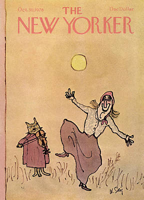 Halloween Painting - New Yorker October 30th, 1978 by William Steig