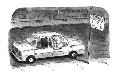 Street Car Drawing - New Yorker October 30th, 1995 by Roz Chast