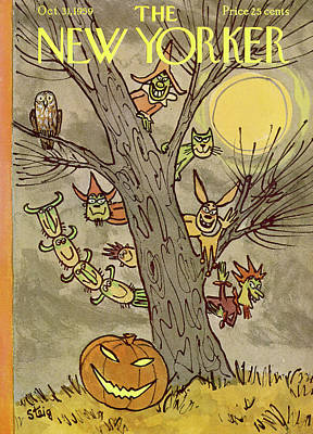 Autumn Painting - New Yorker October 31st, 1959 by William Steig