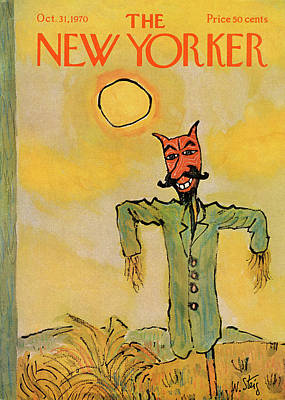 Autumn Painting - New Yorker October 31st, 1970 by William Steig