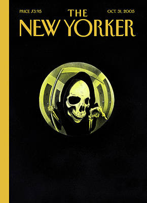 Grim Painting - New Yorker October 31st, 2005 by Ian Falconer