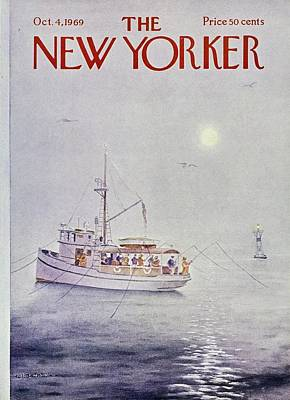 Watercraft Painting - New Yorker October 4th 1969 by Albert Hubbell