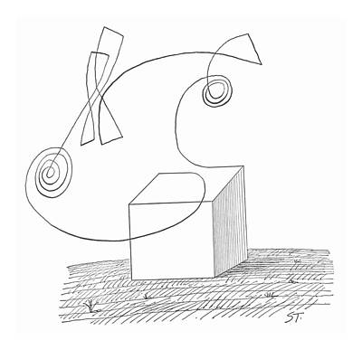 Abstract Shapes Drawing - New Yorker October 5th, 1963 by Saul Steinberg