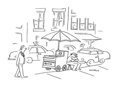 Urban Street Drawing - New Yorker October 5th, 1992 by Liza Donnelly