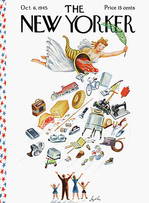 Cornucopia Painting - New Yorker October 6th, 1945 by Constantin Alajalov