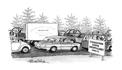 Highway Drawing - New Yorker October 6th, 1986 by J.B. Handelsman