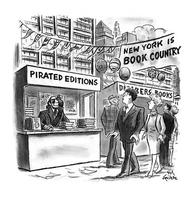 Eye Patch Drawing - New Yorker October 6th, 1997 by Ed Fisher
