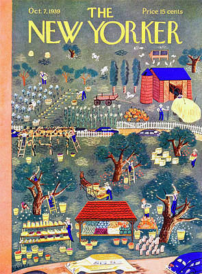 Food Painting - New Yorker October 7 1939 by Ilonka Karasz