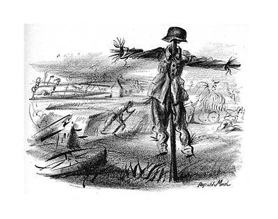 Agriculture Drawing - New Yorker October 7th, 1944 by Reginald Marsh