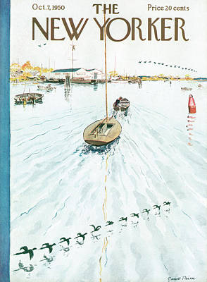Goose Painting - New Yorker October 7th, 1950 by Garrett Price