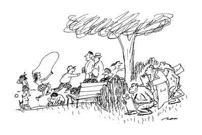 Art Ross Drawing - New Yorker October 7th, 1991 by Al Ross