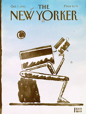 Decision Painting - New Yorker October 7th, 1991 by R.O. Blechman