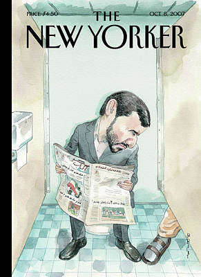 Iran Painting - New Yorker October 8th, 2007 by Barry Blitt