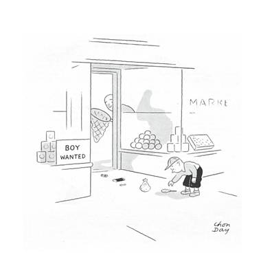 Toy Store Drawing - New Yorker October 9th, 1943 by Chon Day