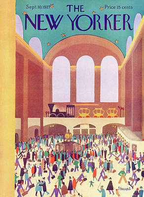September 10th Painting - New Yorker September 10th, 1927 by Theodore G. Haupt