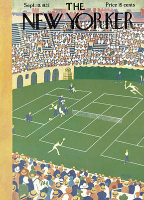 Us Open Painting - New Yorker September 10th, 1932 by Theodore G. Haupt