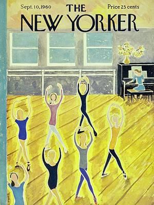 September 10th Painting - New Yorker September 10th 1960 by Ilonka Karasz