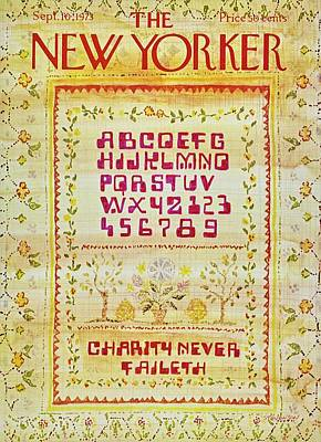 Charity Painting - New Yorker September 10th 1973 by James Stevenson