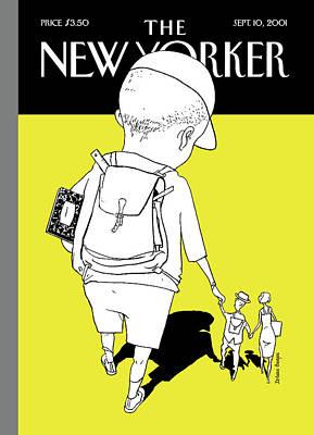 September 10th Painting - New Yorker September 10th, 2001 by Istvan Banyai