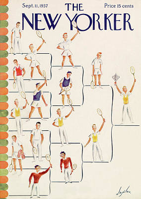 Exercise Painting - New Yorker September 11th, 1937 by Constantin Alajalov