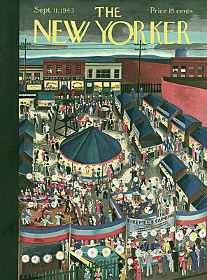 Food Painting - New Yorker September 11th, 1943 by Ilonka Karasz