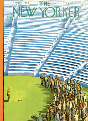 Speech Painting - New Yorker September 11th, 1954 by Arthur Getz