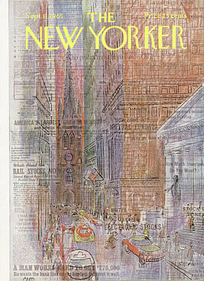Wall Street Painting - New Yorker September 11th, 1965 by Charles E Martin