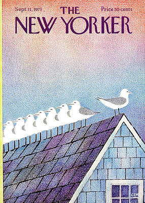 Seashore Painting - New Yorker September 11th, 1971 by Charles E. Martin