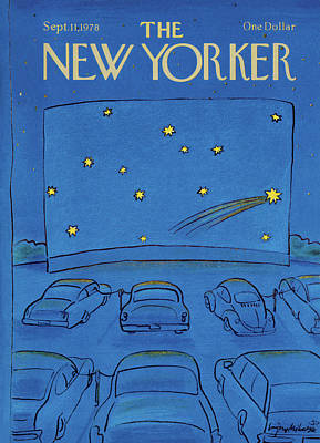 Outer Space Painting - New Yorker September 11th, 1978 by Eugene Mihaesco