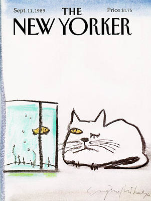 Contest Painting - New Yorker September 11th, 1989 by Eugene Mihaesco