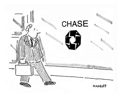 Chemical Drawing - New Yorker September 11th, 1995 by Robert Mankoff