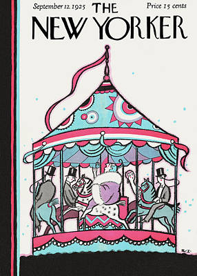 Carousel Painting - New Yorker September 12th, 1925 by Rea Irvin