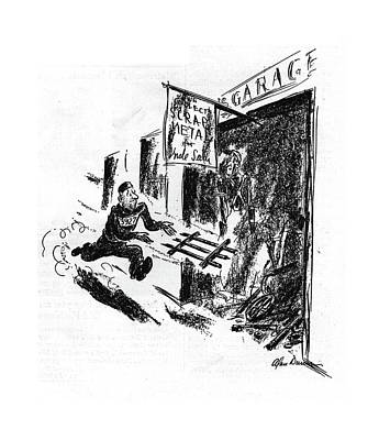 Metal Drawing - New Yorker September 12th, 1942 by Alan Dunn