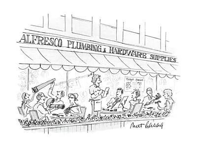 People Drawing - New Yorker September 12th, 1988 by Mort Gerberg