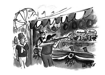 Amusement Park Drawing - New Yorker September 12th, 1994 by Warren Miller