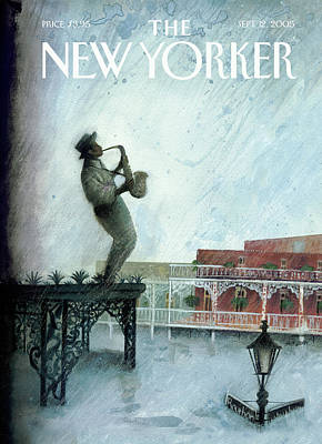 Painting - New Yorker September 12th, 2005 by Ana Juan