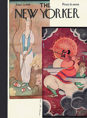 Buddhist Painting - New Yorker September 13th, 1930 by Rea Irvin