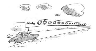 Lyrics Drawing - New Yorker September 13th, 1999 by Michael Maslin