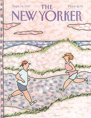 New Yorker September 14th, 1987 Art Print by Devera Ehrenberg