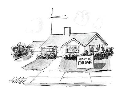 Suburban Drawing - New Yorker September 15th, 1986 by Mischa Richter