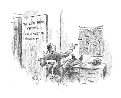 The Economy Drawing - New Yorker September 16th, 1967 by Alan Dunn