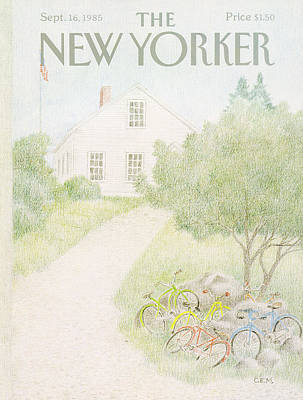 Bicycles Painting - New Yorker September 16th, 1985 by Charles E. Martin