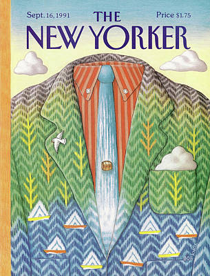 Fashion Painting - New Yorker September 16th, 1991 by Bob Knox