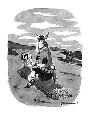 Leif Drawing - New Yorker September 17th, 1990 by Danny Shanahan