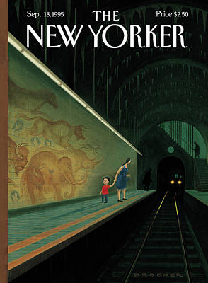 Platform Painting - New Yorker September 18th, 1995 by Eric Drooker