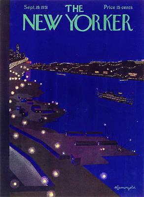 September 19th Painting - New Yorker September 19 1934 by Arthur K. Kronengold