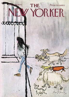 September 19th Painting - New Yorker September 19th, 1970 by Ronald Searle