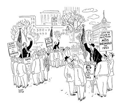 New Yorker September 20th, 1952 Art Print by Robert J. Day